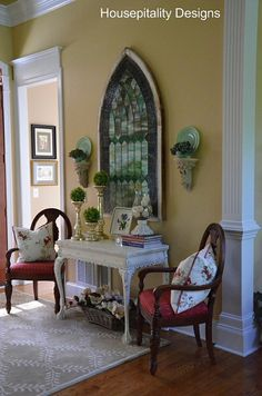 Stained Glass Window  http://housepitalitydesigns.com/2012/09/04/so-where-did-you-place-the-stained-glass-window/#