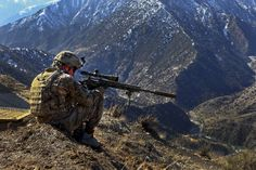 U.S. Army sniper team leader Cpl. Kevin Dehaven provides security at OP Mangol Nari district Kunar province Afghanistan Feb. 8 2012 [5075  3383]