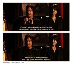 Norman Reedus, talking about Daryl & Carol