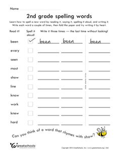 Printables Spelling Words Worksheet pictures search and spelling activities on pinterest free worksheet 2nd grade words list 1 of 38 help your