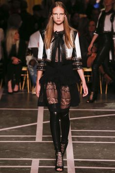Givenchy womenswear, spring/summer 2015, Paris Fashion Week Very interesting piece.  #girlmadattheworld #needadifferentmodel