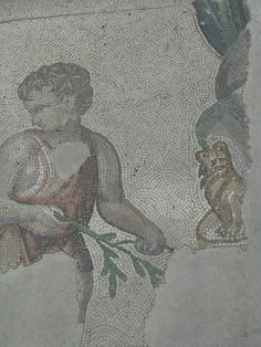 Detail of a mosaic from the House of the Faun, Pompeii « Mosaic Art Source Colorful Cat Mosaic – National museum of Rome – mharrsch Cat on Mosaic – johnthurm A cat sits on a mosai…