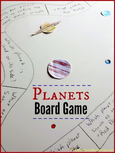 DIY Planets Board Game - what a fun way to learn about the solar system!