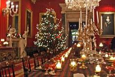 Ultimate Christmas DInner- with tartans and a tree!