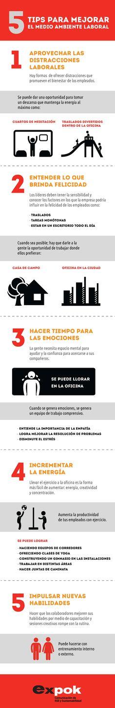 Tips para mejorar el medio ambiente laboral | Infografía