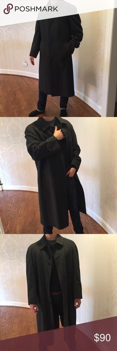Men's wool and cashmere coat Men's coat in 40 R. In excellent condition. Made in Italy,  wool and cashmere,  made really well.  Color is dark charcoal gray Jackets & Coats Trench Coats