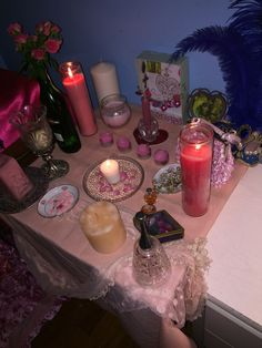 My altar to the two Vodou lwa's of love, Erzuli Freda and Erzuli Diyela.