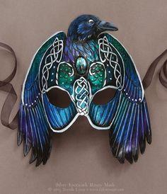 Knotwork Raven Mask by Brenda Lyons