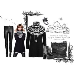 Beautiful in Black by noconfessions, via Polyvore