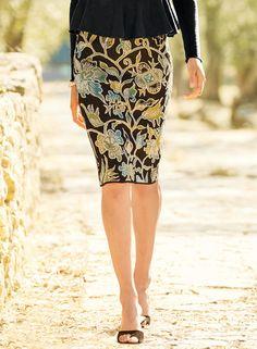 8868d3e9fb949f Surabaya Pima Cotton Pencil Skirt - Knee Length & Short Skirts - Skirts &  Pants