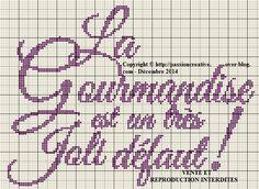 Grille gratuite point de croix : La gourmandise est un... - Le blog de Isabelle