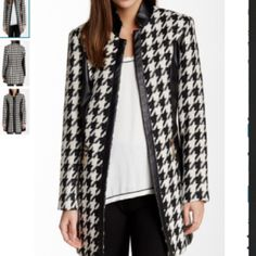 NWT Insight Houndstooth coat  Nordstroms No flaws brand new bust is 19 length 32 no trades please use offer button very warm insight Jackets & Coats