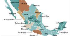 Ciudad de México, 23 de nov (sinembargo.mx) - El diario inglés The Economist publicó un mapa interactivo del índice de violencia en México en comparación con la situación en otros países.  De acuerdo la publicación,el Distrito Federal se puede comparar con Nepal con 786 y 818 ho