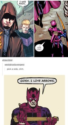 That's it. That's all you need to know about Clint Barton