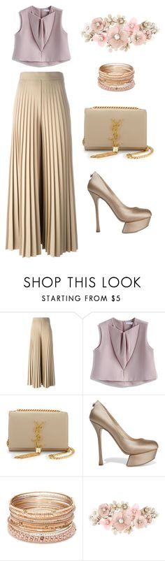 """""""Simply Adore U"""" by halim-yuliana ❤ liked on Polyvore featuring Givenchy, Chicwish, Yves Saint Laurent, Nicholas Kirkwood, Red Camel and Accessorize"""