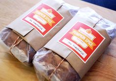 Neat idea for wrapping quick breads
