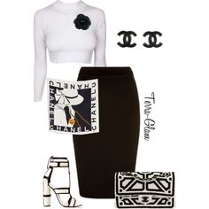 A fashion look from October 2015 featuring Chanel handbags, Chanel earrings and Chanel brooches. Browse and shop related looks.