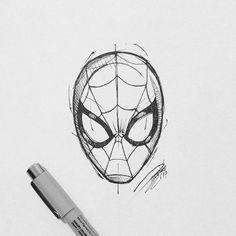 Spiderman Tattoo, Marvel Tattoos, Avengers Tattoo, Spiderman Sketches, Avengers Drawings, Spiderman Drawing, Spiderman Art, Pencil Art Drawings, Cool Drawings