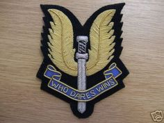 SAS Badge Who Dares Wins Special Forces, Coat Of Arms, Dares, Art Forms, Flags, Badge, Military, Tattoos, Tatuajes