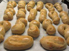 Greek Cookies, Greek Desserts, Pretzel Bites, Bread, Vegetables, Recipes, Food Project, Brot
