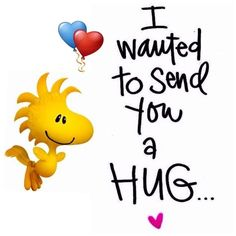 ~Snoopy & Woodstock ~ To thank you for ALWAYS being there for me Peanuts Quotes, Snoopy Quotes, Peanuts Cartoon, Peanuts Snoopy, Snoopy Hug, Charlie Brown Y Snoopy, Sending You A Hug, Big Hugs For You, Hug Quotes