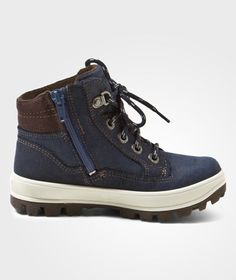 Kick up leaves on the way to the park on cool days with Tedd Boots in Blue from the kid's footwear experts at Superfit. – Reinforced with waterproof a