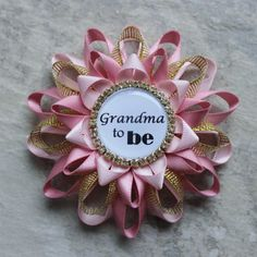 Gold Baby Shower Decorations | Pink and Gold Baby Shower Decorations, New Grandma Gift, Grandma to Be ...