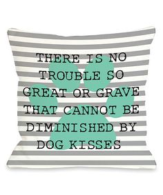 Look what I found on #zulily! Stripe Paw Quote Pillow #zulilyfinds
