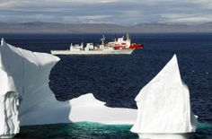 The beauty and splendor of icebergs Coast Gaurd, Coast Guard Ships, Canadian Coast Guard, Royal Canadian Navy, Search And Rescue, Natural Wonders, Arctic, Sailing, Canada