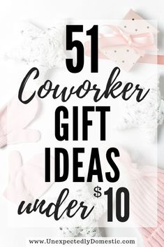 secret santa gifts Check out these 51 cheap Christmas gift ideas for coworkers. They are the perfect inexpensive gift ideas for women and men! These are unique Christmas gifts for your office secret santa holiday party. Diy Christmas Gifts For Coworkers, Office Christmas Gifts, Coworker Birthday Gifts, Frugal Christmas, Inexpensive Christmas Gifts, Christmas Gifts For Women, Cheap Gifts For Coworkers, Cheap Gifts For Men, Inexpensive Gifts For Men