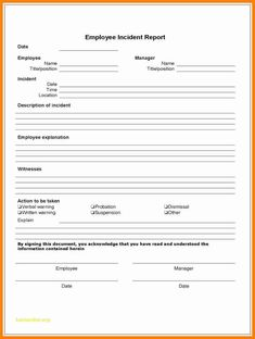 Employee Incident Report - 4 Free Templates In Pdf, Word in Injury Report Form Template - Creative Sample Templates Office Templates, Book Report Templates, Best Templates, Business Templates, Receipt Template, Notes Template, Incident Report Form, Email Programs, Injury Report
