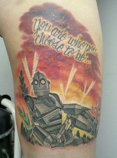 """Amazing """"The Iron Giant"""" Tattoo [Pic] 