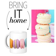 """Bring It Home: Macaron Mug"" by polyvore-editorial ❤ liked on Polyvore"