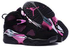pink and black air jordan