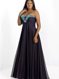 Floor Length Formal Dress Evening Dress/Plus Size Prom Dress Too 9003W