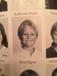 Ansel Elgort- Fourth Grade  I CANNOT EVEN. I HAVE COMPLETELY LOST THE ABILITY TO EVEN.