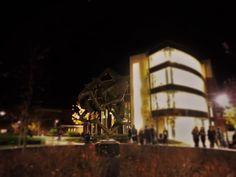 """""""Sprites"""" sculpture on UWEC campus"""