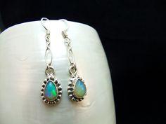 Ethiopian Opal Sterling Silver Earrings by ParadiseJewellery on Etsy