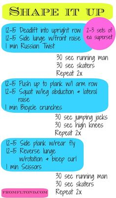 Shape up those muscles with this full body workout you can do at home!