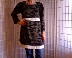 104  Femine Mini A-Line Little Black Dress Jeans by ArtzWear