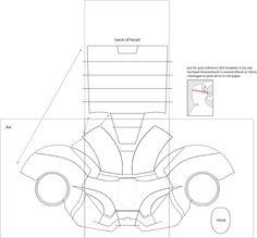 Dali Lomo Iron Man 4 Costume Helmet DIY Cardboard With Template