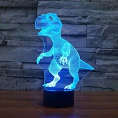 Borang Dinosaur Light Night Light Touch Table Desk Lamp,Borang 7 Colors Optical Illusion Lights with Acrylic Flat & ABS Base & USB Charger for Christmas Gifts 3d Christmas, Christmas Gifts For Kids, Kids Gifts, Christmas Lights, Christmas Presents, Holiday Gifts, Color Optical Illusions, Dinosaur Light, 3d Light