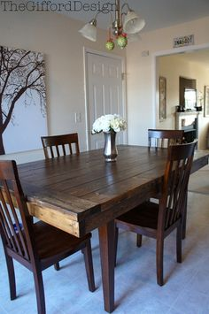 Great tutorial on this Farmhouse table top to add to your existing table.