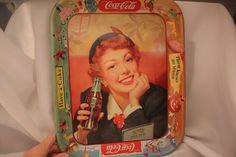 Storewide sale thru Mother's Day...May 12 th, Wonderful Coca Cola Tray Very Colorful Holiday by VintagebyViola, $65.00