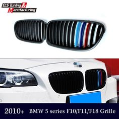 Car accessories for bmw 5 series f10 f11 523i 528i 535i 550i 2010 11 2012 2013 2014 15 1-slat M color front kidney grill grille