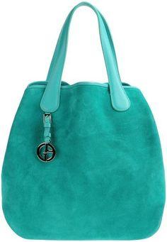 GIORGIO ARMANI Large Leather Bag - Lyst
