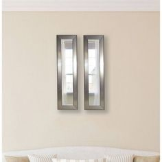 Rayne Silver Rounded Mirror Panel, Set of 2