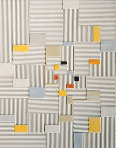 Adolf Richard Fleischmann, Relief painting #19x, 1960/61, Oil and corrugated board on canvas, 98x78 cm
