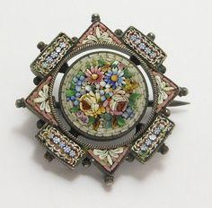Victorian mosaic brooch