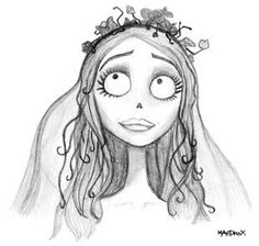tim burton sketches corpse bride by mandrax by mandrax shadowness